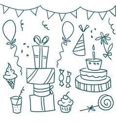 Birthday sketches vector