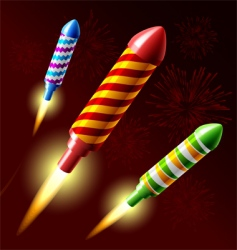 Fireworks rocket vector