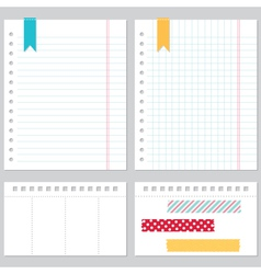Notebook paper set vector