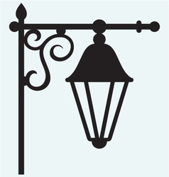 Silhouette lamp of wrought metal vector