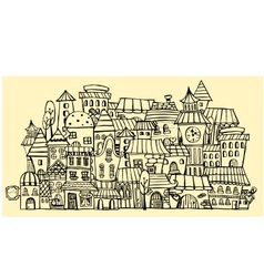 Cartoon contour town vector