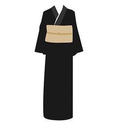Kimono dress vector
