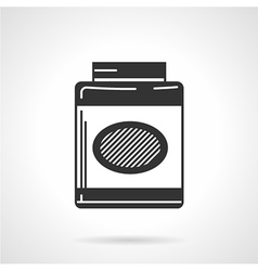 Black icon for gainer supplements vector