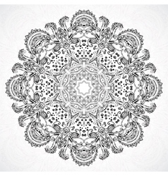 Vintage ethnic ornament mandala background vector