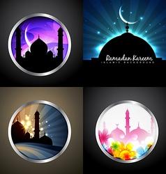 Attractive set of ramadan kareem festival vector