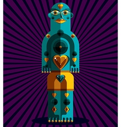 Graphic anthropomorphic character isolated vector