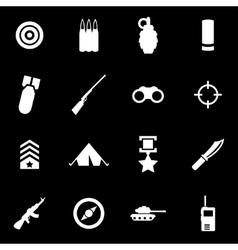 White military icon set vector