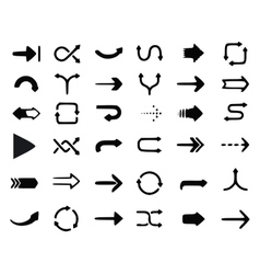 Arrows set hand drawn arrows set sketched style vector