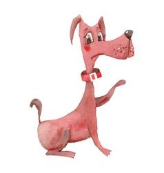 Watercolor dog vector