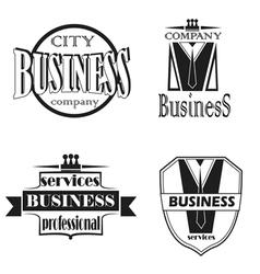 Set of elements for logo design vector