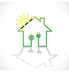 Green house solar circuit vector
