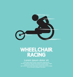 Wheelchair racing vector