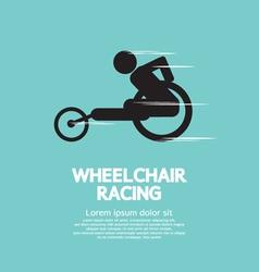 Wheelchair racing vector