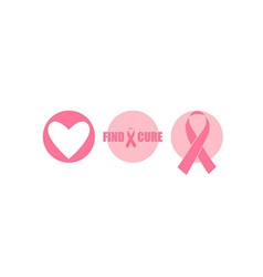 Breast cancer awareness cards design vector
