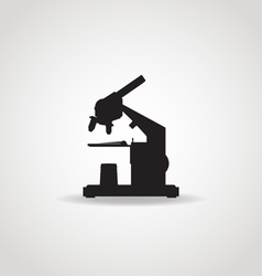 Microscope black icon vector