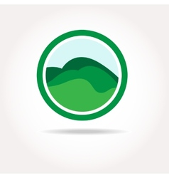 Green healthy nature agricultural logo vector