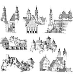 Medieval scenics vector