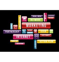Internet marketing cloud text concept vector