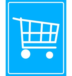 Cart on wheels vector