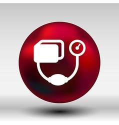 Tonometer flat icon blood pressure checker medical vector