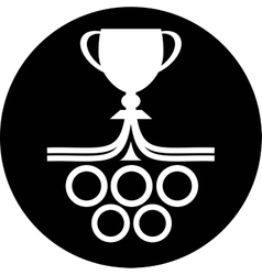 Cup winner icon vector