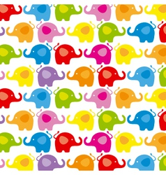 Background color elephants vector