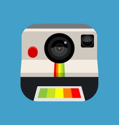 Retro instant camera icon vector