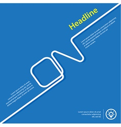 Poster template brochure layout flat style concept vector