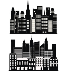 Big city background vector