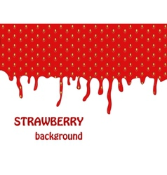 Fresh strawberry background vector