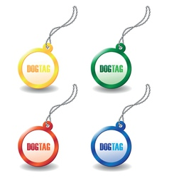 Dog tags vector