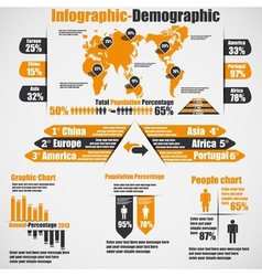 Infographic demographic new style 10 orange vector