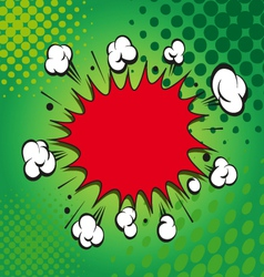 Comic book explosion elements vector