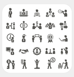 Management and business icons set vector