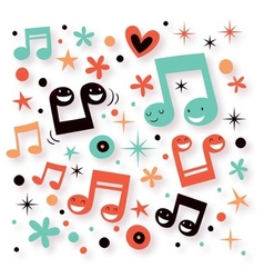 Music fun background vector
