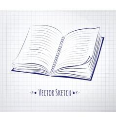 School notebook vector