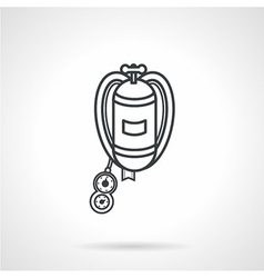 Black line icon for aqualung vector