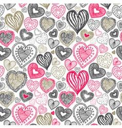 Vintage love doodle pattern vector