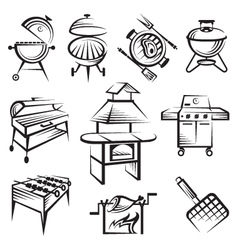 Set of barbecue design vector