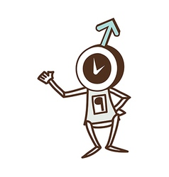 Clock robot vector