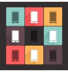 Beautiful pure cell icon set simple flat square vector