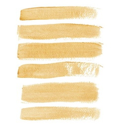 Gold ink brush strokes vector