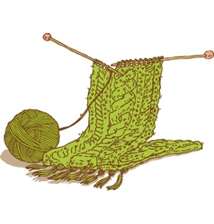 Scarf and yarn vector