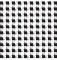 Gingham tablecloth pattern background black and wh vector