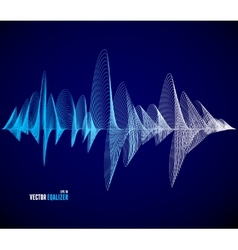 Equalizer musical bar dark background vector