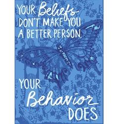 Butterfly wisdom vector