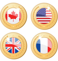 Medals of the world vector