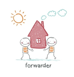 Forwarder carries a house vector