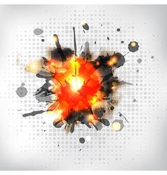 Burning sparkler vector