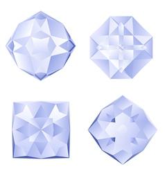 Set of rhinestones vector